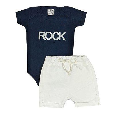 Conjunto Bebê Rock Azul Marinho