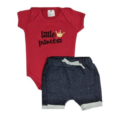 Conjunto Bebê Little Princess Jeans