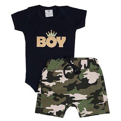 Conjunto Bebê Boy Camuflado