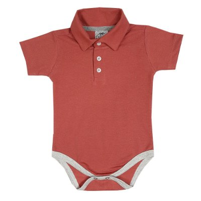 Body Bebê Polo Goiaba