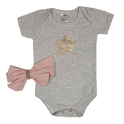 Body Bebê Princesa + Faixa Rosa