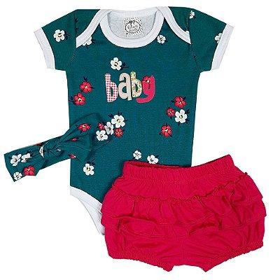 Conjunto Bebê Baby Floral