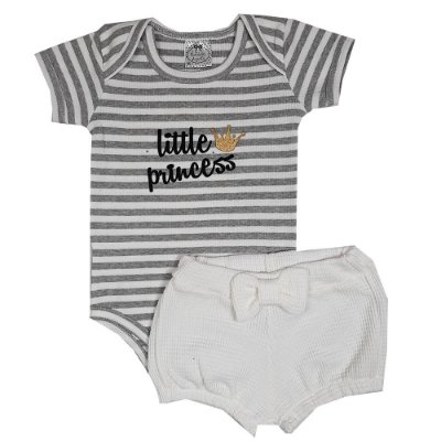 Conjunto Bebê Little Princess Listrado