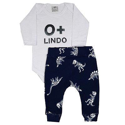 Conjunto Bebê Body O+ Lindo Com Calça Dinossauro