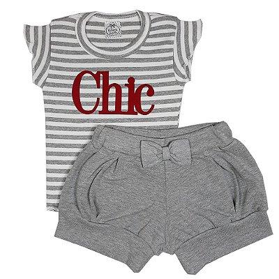 Conjunto Infantil Chic Cinza