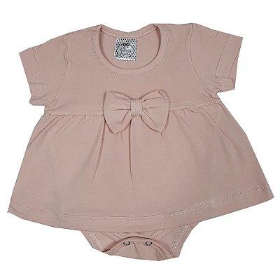 Vestido Bebê Com Body Rosa