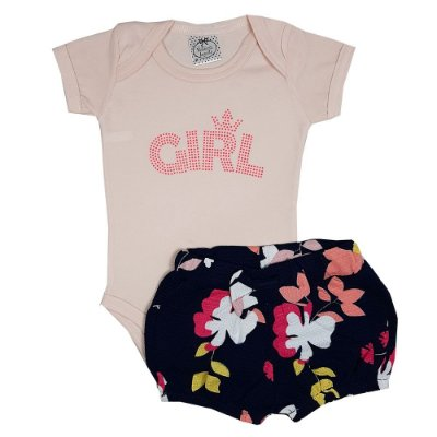 Conjunto Bebê Girl Rosa