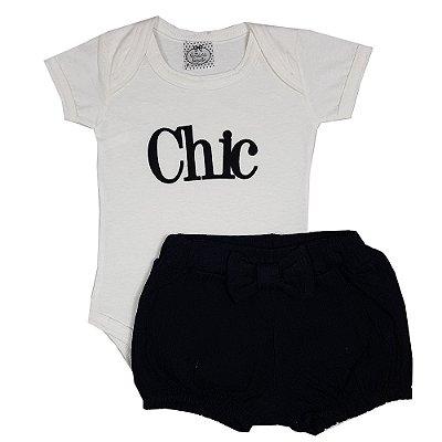 Conjunto Bebê Chic Preto
