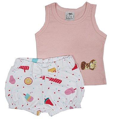 Conjunto Bebê Regata + Shorts Sorveteria