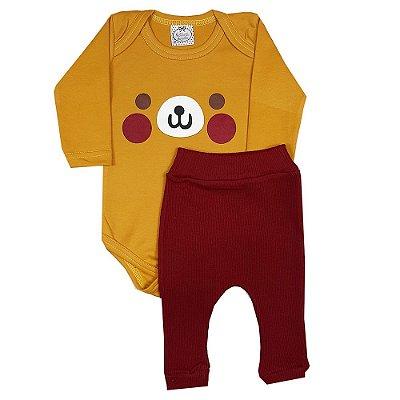 Conjunto Bebê Cachorro Amarelo
