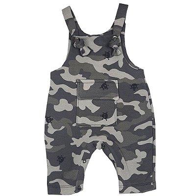 Jardineira Bebê Militar