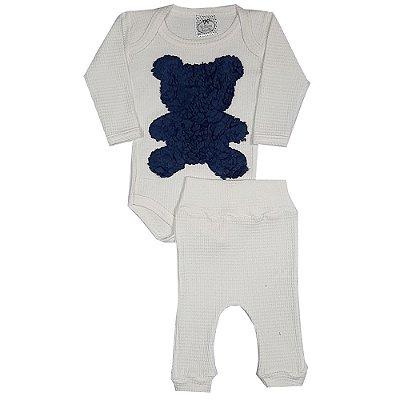 Conjunto Bebê Ursinho Azul Marinho