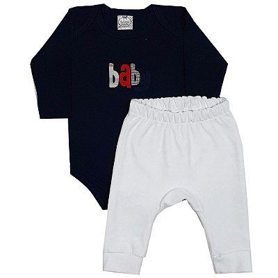 Conjunto Bebê Body Baby + Calça Saruel De Plush