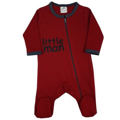 Macacão Bebê Little Man Vermelho