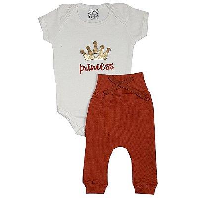 Conjunto Bebê Princess Laranja