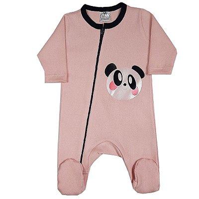 Macacão Bebê Panda Rosa