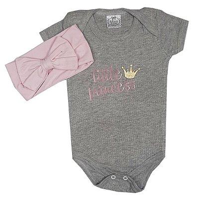 Body bebê Little Princess + Faixa Rosa