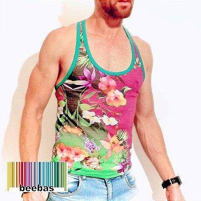 Camiseta regata com corte básico e modelagem slim com ombros mais ... 41d369a3a45