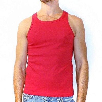 Camiseta regata slim fit básica masculina fitness