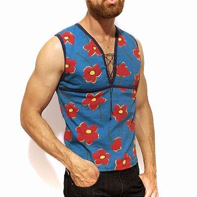 Regata machão masculina gladiadora, camiseta gladiadora floral tipo machão. No estilo Clube da Luta.