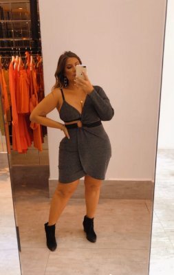 Vestido com top plus size