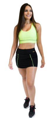 Short Saia - Power - Preto e Verde