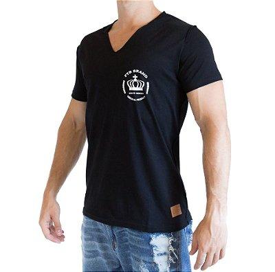 Camiseta Gola V - Preta