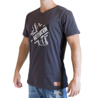 Camiseta Longline - Motivation - Cinza
