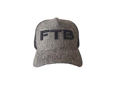 Boné Trucker FTB - Cinza mescla