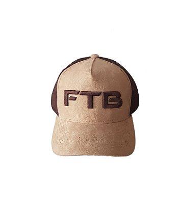 Boné Trucker FTB - Marrom