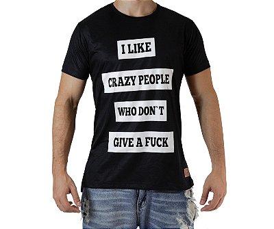 Camiseta Casual - I Like - Preta