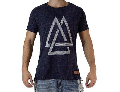 Camiseta Casual - Triangles - Azul