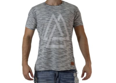 Camiseta Casual - Triangles - Lav