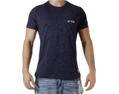 Camiseta Casual - Basic - Azul
