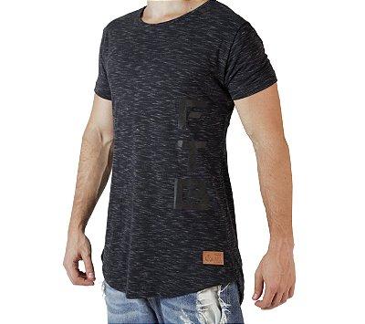 Camiseta Longline - BR FTB - Preta