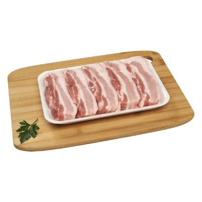 Barriga suína em tiras - bandeja 500 gr