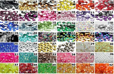 3mm Strass Cristais Chatom Gemas Resina brilhosa 3gr