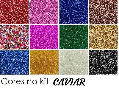 Kit caviar 12 cores unha 3d 2gr cada
