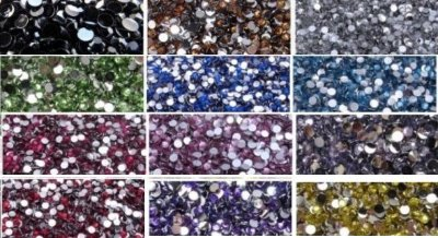 Kit 1,5mm Strass Cristais Chatom Gemas Resina brilhosa kit refil com 1200pcs (12cores)