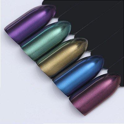Refil pigmento em pó corante tom imitação de cromado/sereia