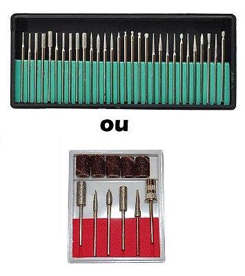 kit bits (broca) lixadeira eletrica (6bits ou 30bits)