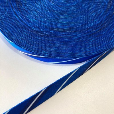 Alça de Poliéster 15mm Azul Listrado