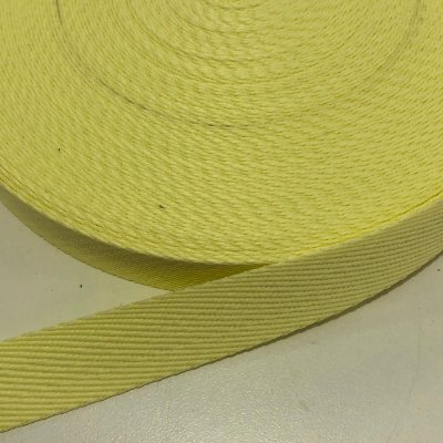 Alça de Poliéster 2cm Amarelo Bebê