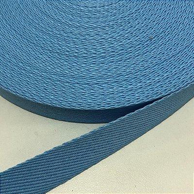 Alça de Poliéster 2cm Azul Bebê