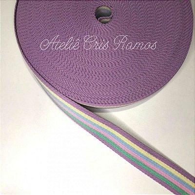 Alça de Poliéster 4cm Candy Color