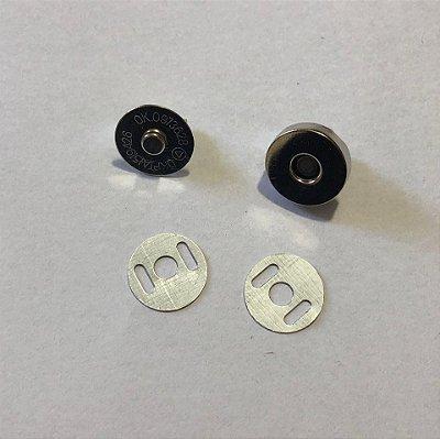 Botão de Imã  Prata Pequeno (5 unidades)