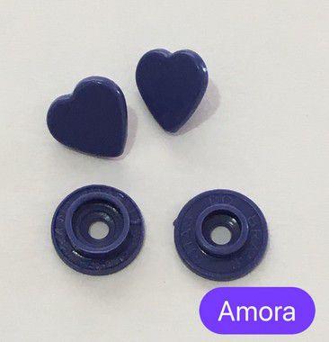 Botão de Pressão Coração Amora (pct 10)