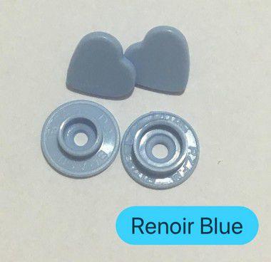 Botão de Pressão Coração Renoir Blue (pct 10)