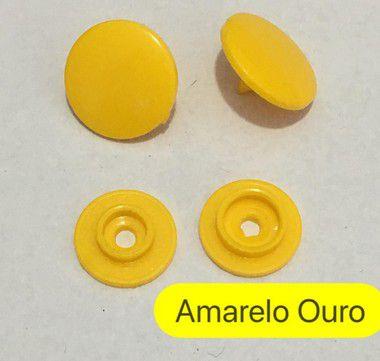 Botão de Pressão n° 12 Amarelo Ouro (pct 10)