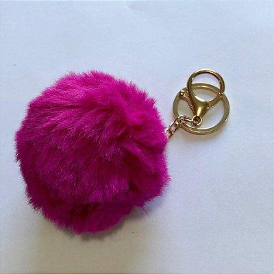 Chaveiro Pompom Pink